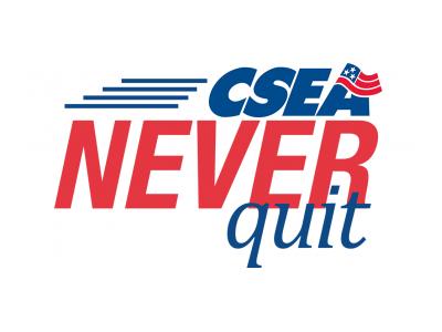 CSEA Never Quit logo