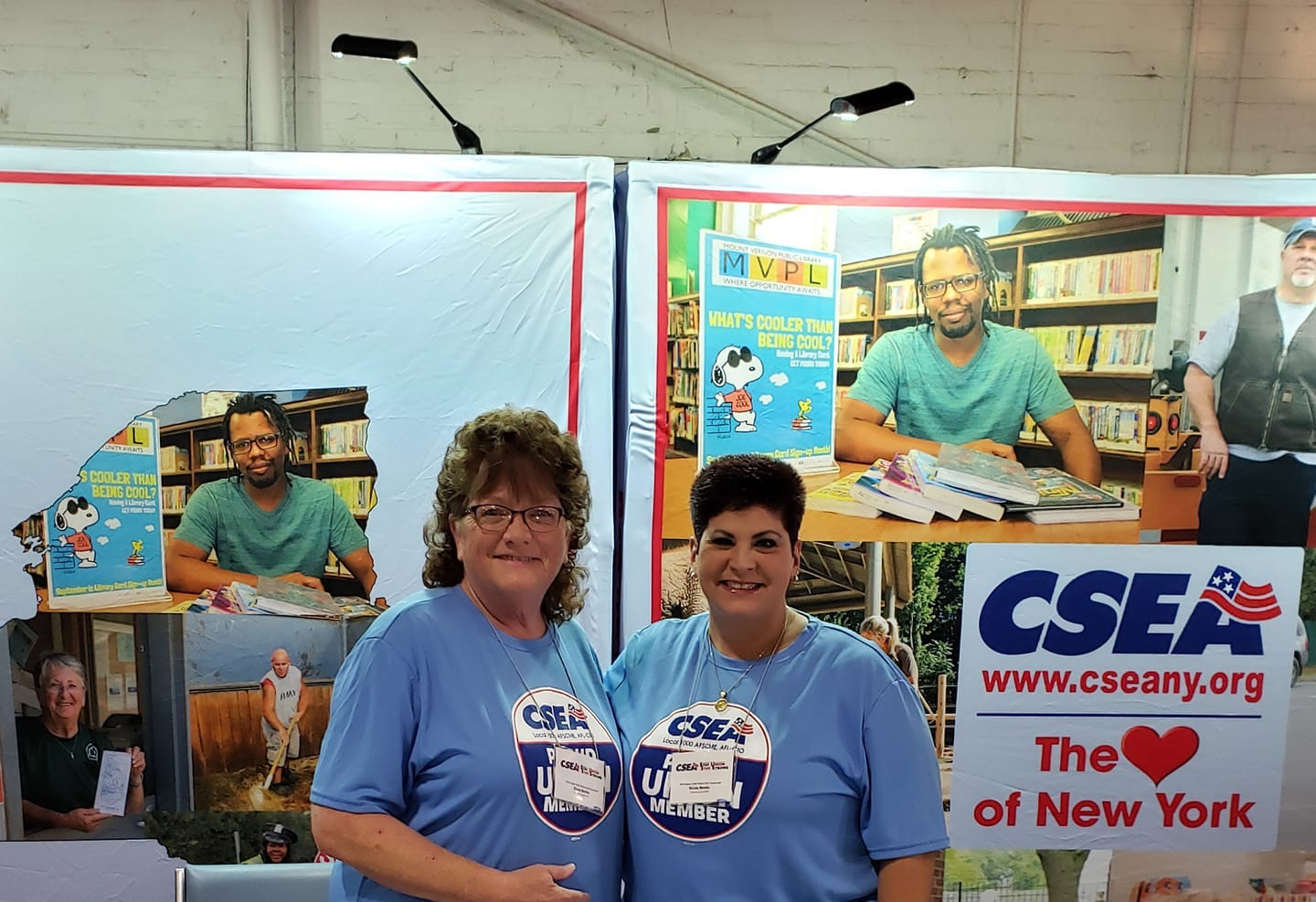 Diane Burton and Nicole Meeks spent some time greeting members at the NYS Fair.