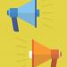 two megaphones